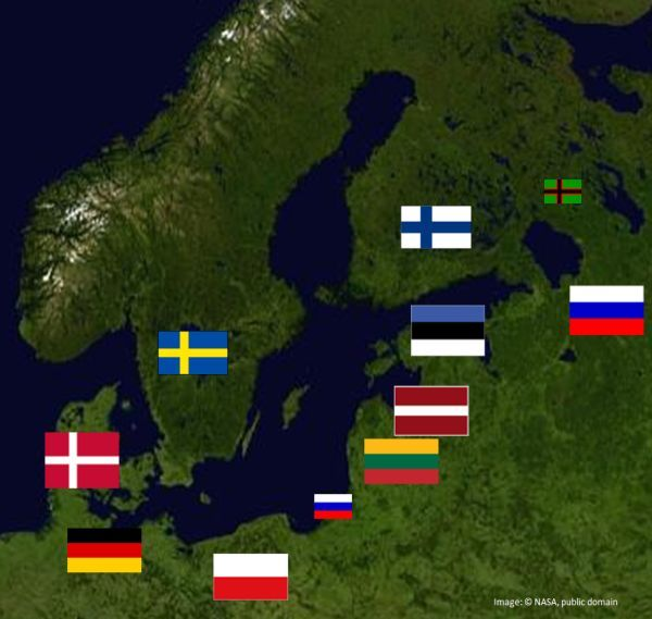 balticseamapwithflags